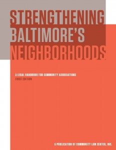 Strengthening Baltimore's Neighborhoods cover
